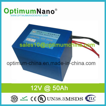 Safe LiFePO4 12V 50ah E-Wheelchair Battery