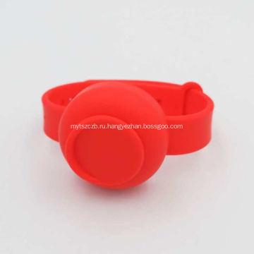Многоразовый дозатор для браслетов с дезинфицирующим средством для рук с бутылкой
