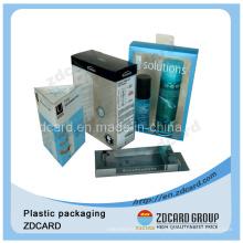 Caja plegable de empaquetado plástica del PVC del pliegue suave vendedor caliente