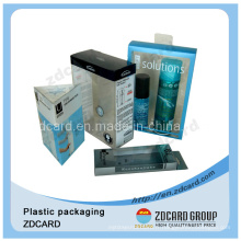 Boîte pliante d'emballage en plastique de PVC de pli de vente chaude de pli