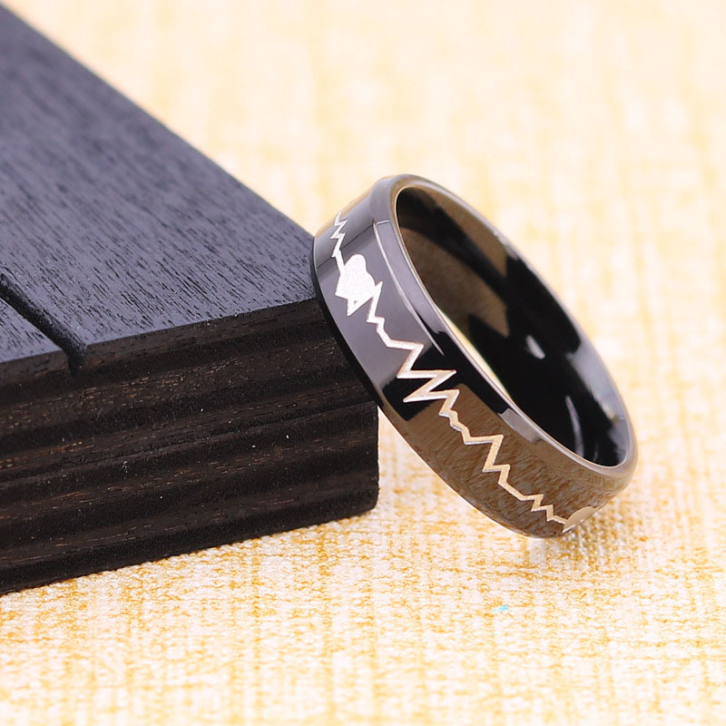 Custom Heartbeat Ring