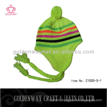 Free Knit Pattern For Hat Earflaps knitted hat winter warm professional factory