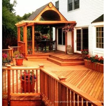 Pavillon et couloir en bois de cèdre rouge
