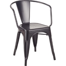 Tolix Side Dining Room Metal Chair With Arm