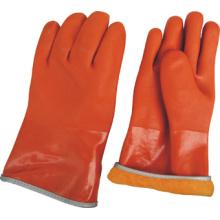 Voll-Acryl-Futter Orange PVC Winter Arbeitshandschuh- (5126)