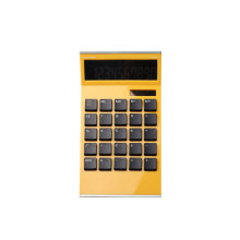 Dual Power 10 Digit Super Thin Shape Office Desk Calculator