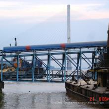 Transportador de banda para manipulación de materiales con puerto anti-lluvia