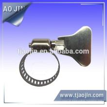 Braçadeira de mangueira de aço inoxidável americana de 8mm pequeno, braçadeira de mangueira