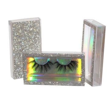 D628H Hitomi 3d Mink Lashes Manufacturer Long Eyelash soft natural mink eyelashes Fluffy 25mm Magnetic Mink Eyelashes