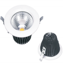 30W एलईडी Recessed Downlight COB चिप 2400lm