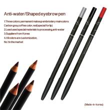 Lápiz de maquillaje permanente resistente al agua para el diseño de cejas y labios