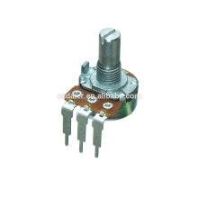 WH148-1A-4-N mono b único potenciômetro digital rotativo de 500k com 3 pinos tortos