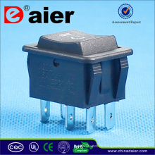 Interruptor pequeno do balancim de 3 posições dos cantos 6 do Pin