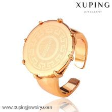 12479 Xuping plus nouveau style pas de pierre plaqué or 18k anneaux