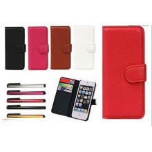 Pacote novo caso carteira para iPhone5 5s (MU8732)