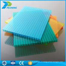 Site Alibaba Vente à chaud Lowes Panneaux creux en polycarbonate Panneau de toiture en plastique teinté