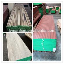 Diseños de las puertas principales de madera de teca / chapa de madera reconstituida / chapada cara cortada