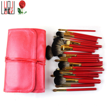 29 Pieces Sexy Red Professional Natural Hair Makeup Brush