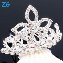 Elegantes peines franceses de cristal, peines de lujo del pelo de la boda, peines nupciales cristalinos, peines del pelo de la flor