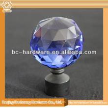 Kristallglas Finials für Vorhangstangen, Glas Vorhang Stange Finials, Kristall Vorhang Finial rosa