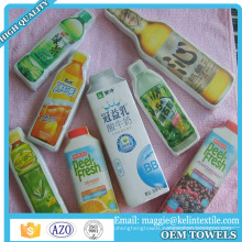 100% cotton terry promotional compressed bottle towel/advertising towel