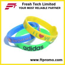 Pulsera de silicona OEM Promoción pulsera de silicona de colores