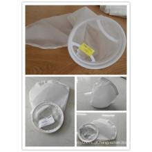 Saco de filtro líquido da malha de nylon com cordão / anel de aço inoxidável / plástico