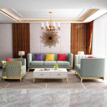 Conjuntos de sofás de cuero Muebles para el hogar