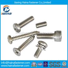 Edelstahl-Maschine Schrauben, Blechschraube, Maschinenschraube aus China Lieferanten Maschine Schraube