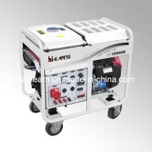 8kw refrigerado por aire de dos cilindros de gasolina generador (GG12000E)