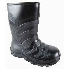 Детские черные сапоги дождя JX-918