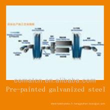 Bobine d'acier galvanisé pré-peint de Chine, DC51D + Z
