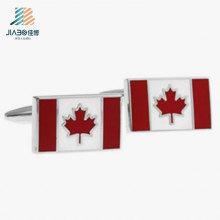 Botão de punho feito sob encomenda do metal da bandeira de Canadá do fornecedor de China para a camisa dos homens