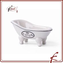 2015 уникальный дизайн красоты белый фарфоровый мыльница