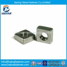 En stock Noix carrées plates en acier inoxydable M5-M10 de haute qualité