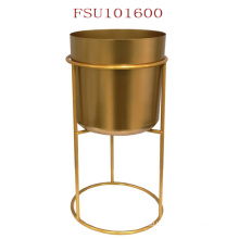 Flower Planter Pot Style Create a Stand Corner Metal Hot Sale Modern Load Flower Pot Max.10kgs Display Flower Plating Golden N/a