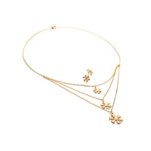 Women Jewelry Set Snowflake Multilayer Necklace