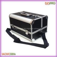 Large Train Makeup Case Black PU Travel Makeup Organizer (SACMC089A)