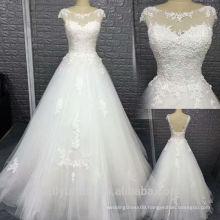 2017 newest modern A-line sleeveless armhole wedding dress