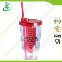 Varredor de Infusor de Frutas com BPA sem 16oz com Palha