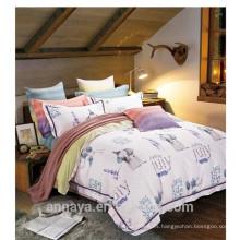Tejido de algodón 40s / 133 * 72 reactivo impreso elefantes animal diseños juego de sábanas conjunto edredón cubierta conjunto
