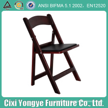 Stacking Wedding Resin Folding Chair with Black Seat Pad