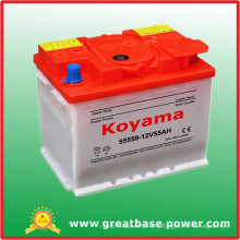 High Quality Dry Charged SMF Battery DIN55-12V55ah