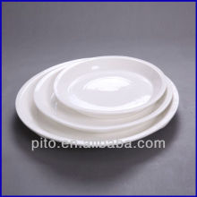 porcelain flat bottom soup plate