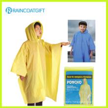 Disposbale Cheap Yellow PE Raincoat (RVC-140)