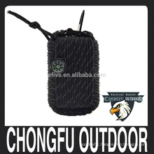2016 new hot popular nylon paracord outdoor emergency survival tool kits bag camping equipment wholesale