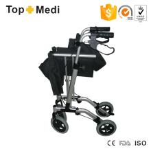 Topmedi Foldable Aluminum Rollator with Hand Brake