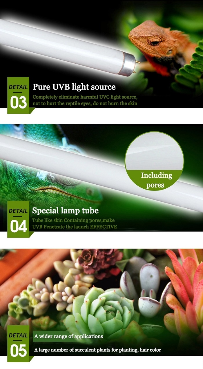 T8 UVB Fluorescent Lamp Tube