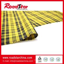 Colorful check reflective wire fabric