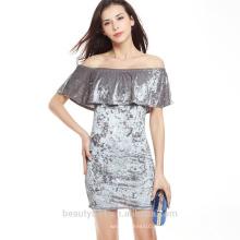 Out Shoulder Guangzhou Sexy Robe de vendange femme en gros SD12